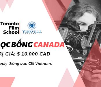Học bổng Canada lên đến $10,000 CAD tại Yorkville University/ Toronto Film School