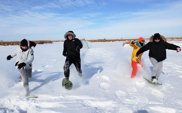 3. Snow shoe Race