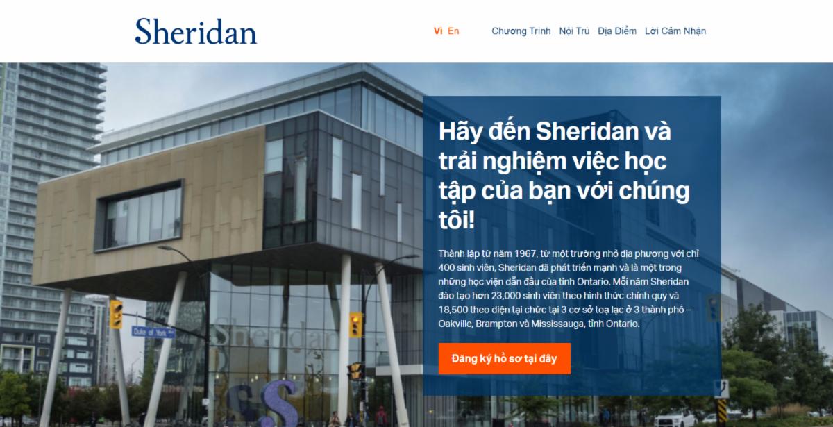Sheridanwebsite