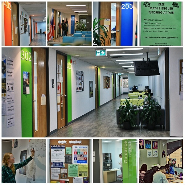 collages of taie halls and classes